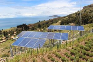 Paneles solares en el campo